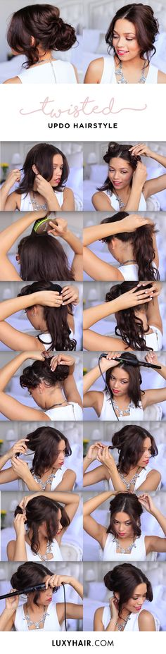 Ashley shares how to create a beautiful easy updo using her Chocolate Brown Luxy Hair Extensions in this YT tutorial.