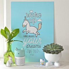 grande affiche Wake up Mr Wonderful - deco-graphic.com