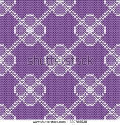 knitted baby seamless pattern