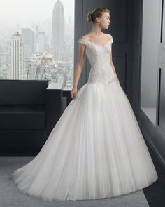 Two by Rosa Clara Wedding Dresses 2015 Collection Part I. To see more: http://www.modwedding.com/2014/07/28/two-rosa-clara-wedding-dresses-2015-collection/ #wedding #weddings #wedding_dress