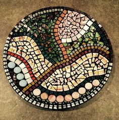 Mosaic plate-mosaic art-mosaic bowl-mosaic home decor