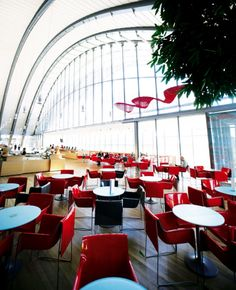 Cafe at the Paul Klee Centrum in Bern.