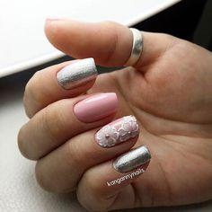 23 elegant nail art designs for prom 2018 nails дизайн ногте Lace Nails, Metallic Nails, Flower Nails, Gold Nails, Pink Nails, Elegant Nail Art, Elegant Nail Designs, Nail Art Designs, Nails Design