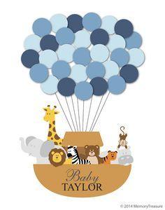 Cute Noah's Ark theme baby shower keepsake.