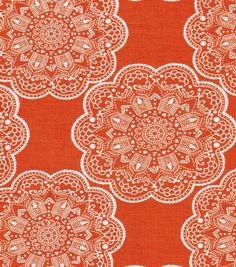 Keepsake Calico Fabric- Orange Medallion at Joann.com