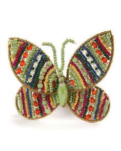 H7PSH MacKenzie-Childs Butterfly Jewel Napkin Ring