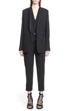 ANN DEMEULEMEESTER Wool Tuxedo Blazer. #anndemeulemeester #cloth #
