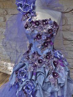 MACHTE Ordnung lila viktorianischen Hochzeit Kleid von Arabescque