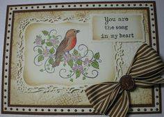 Inky Finger Zone: You are the song in my heart Heartfelt Creations Cards, My Heart, Christmas Cards, Finger, Songs, Paper, Birthday, Frame, Creative