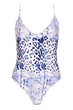 Snake and Leopard Print Swimsuit - New In- Topshop Europe