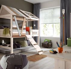 Montessori style bunk beds