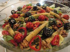 peynirli salata tarifi,peynir topları,değişik salata tarifleri,bahar salatası,davet salataları