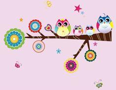 Free-Shipping-Cartoon-Tree-Bird-font-b-Lovely-b-font-OWL-font-b-FAMILY-b-font.jpg (598×468)