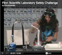 Very funny FREE lab safety video from Flinn Scientific of what NOT to do!  Your students will have a blast trying to see who can find the most mistakes!