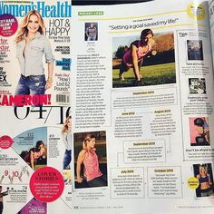 One proud mama here! My daughter Kelly is in Womens Health magazine right now!! A whole 2 pages dedicated just to her . Kellys health journey is remarkable .