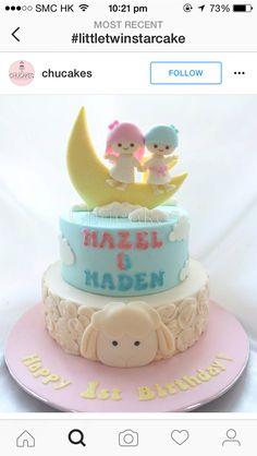 Baby Birthday, Birthday Ideas, Birthday Cake, Cake Baby, Little Twin Stars, Twins, Desserts, Food, Tailgate Desserts