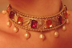Saxon Collar by Baroness Nordmark, via Flickr  (Hm...could do this in leather, spray paint it, affix the jewels...)