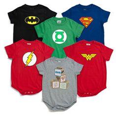 Baby superhero rompers from Think Geek