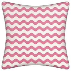 Modern Pink and White Stripe Pillow.  Free shipping!