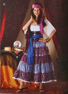 Gypsy Fortuneteller Bohemian Romantic Costume by LunaFioreCostumes