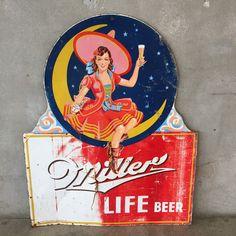 Vintage Miller High Life Beer Sign