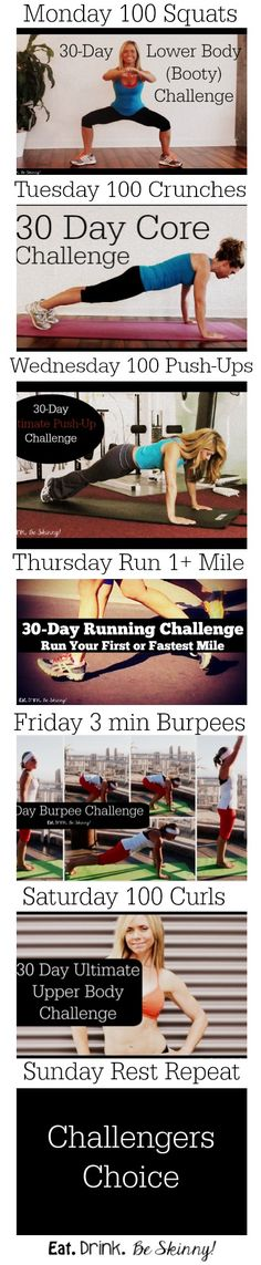 30 Day Full Body Challenge 2014 Fitness Round-up | Eat. Drink & be Skinny!
