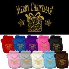 Mirage - Golden Christmas Present Dog Hoodie