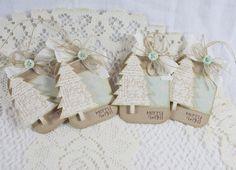 Handmade Holiday Gift Tags #pti