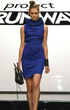 melissa-blue-dress - I would wear this everyday at work