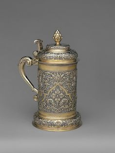"Michael May II (active 1731–76). Tankard, mid-18th century. Hungarian, Brassó. The Metropolitan Museum of Art, New York. Gift of The Salgo Trust for Education, New York, in memory of Nicolas M. Salgo, 2010 (2010.110.58) | This work is featured in our ""Hungarian Treasure: Silver from the Nicolas M. Salgo Collection"" exhibition on view through October 25, 2015 #HungarianTreasure"