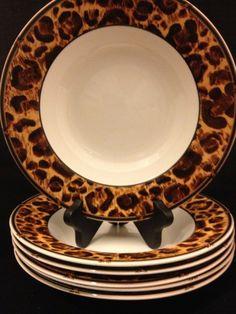 Victoria & Beale Dinnerware WILD KINGDOM 9047~6~ Soup/Salad Bowls