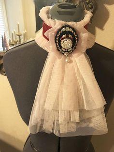 Red velvet choker with pale pink jabot, handmade beaded rose cameo style centerpiece on black velvet- Victorian, costume Collar And Cuff, Pale Pink, Red Velvet, Chokers, Flower Girl Dresses, Beads, Trending Outfits, Wedding Dresses, Rose