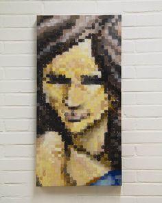 'Pixel Woman' by #dubiz 2013 #graffiti #art #canvas #fineart #contemporaryart #stretched #galleryart