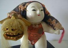 japanese shi shi masks | ... Kintaro 'Golden Boy' display doll, vintage Japanese doll for Boy's Da