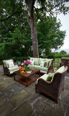 In the summertime, there's nothing better than coming home from a long day, grabbing an ice-cold drink, and heading outside. Breathing the fresh air is a great way to relax and let go of your troubles. Add comfort to your outdoor space with fantastic furniture and accessories by Peak Season. #outdoorliving