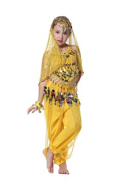 8938ba6f193 Chiffon Belly Dance Clothes 2017 Hot Sale Handmade Girl Costumes Kids Belly  Dancing Beading Egypt Dance Cloth