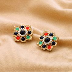 European and American fashion jewelry manufacturers wholesale direct palace the national candy colors earrings female