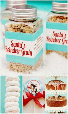 """Santa's Reindeer Grain - On the Reverse Side """"Directions: Sprinkle this outside on Christmas Eve Night, The Light of the Moon Will Make It Sparkle Bright, As Santa's Reindeer Fly and Roam, This Will Guide Them to Your Home."""""""