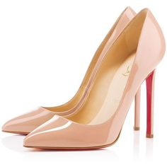 Christian Louboutin Pigalle (2.065 BRL) ❤ liked on Polyvore featuring shoes, pumps, heels, christian louboutin, high heels, nude, pointy-toe pumps, stiletto pumps, pointed-toe pumps and heels stilettos