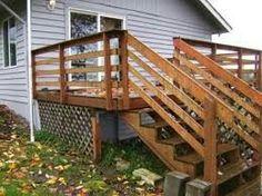 Horizontal Deck Railing Boards On Outside Railings
