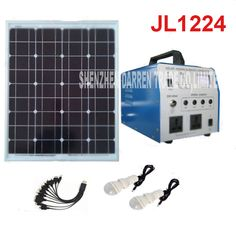 350W,lighting system  generator,  solar panels 630*540mm, JL1224 solar power generation system Alternative Energy Generators #Affiliate