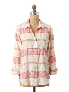 Anthropologie Muted Stripes Buttondown Shirt ($88) Found by Teen Vogue