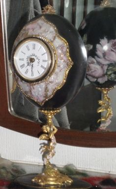 Front view of my hand painted Emu egg clock. The front panel if made from…