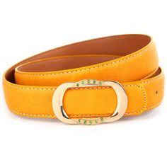Yellow Faux Leather Rhinestone Buckle Belt ($8.33) ❤ liked on Polyvore featuring accessories, belts, loop belt, fake belts, embellished belt, stitched belt and faux leather belt