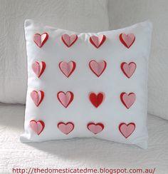 Pretty heart cushion