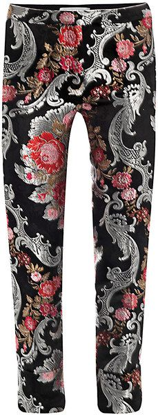 5c326acf21b Floral Brocade Trousers - Lyst Classic Wardrobe, Floral Pants, Fashion Pants,  Love Fashion