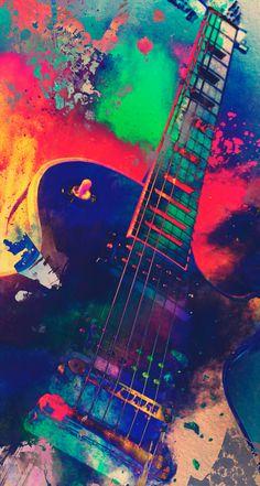 Les Paul by Alexandre Perotto - #guitar #colors #vivid #music #electric