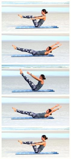 Boat Pose Series: Yoga & Pilates inspired Core Strengthening Workout Series: Yoga- | Give this circuit workout a try to increase the strength of your core muscles.  Core strength in the foundation for all movement and will benefit your life in so many ways | Yoga, Pilates, Fitness, Health & Wellness Inspiration