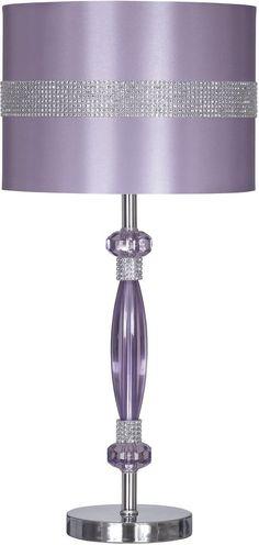 Nyssa 1 Light Table Lamp Purple