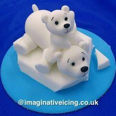polar bear igloo cake - Google Search